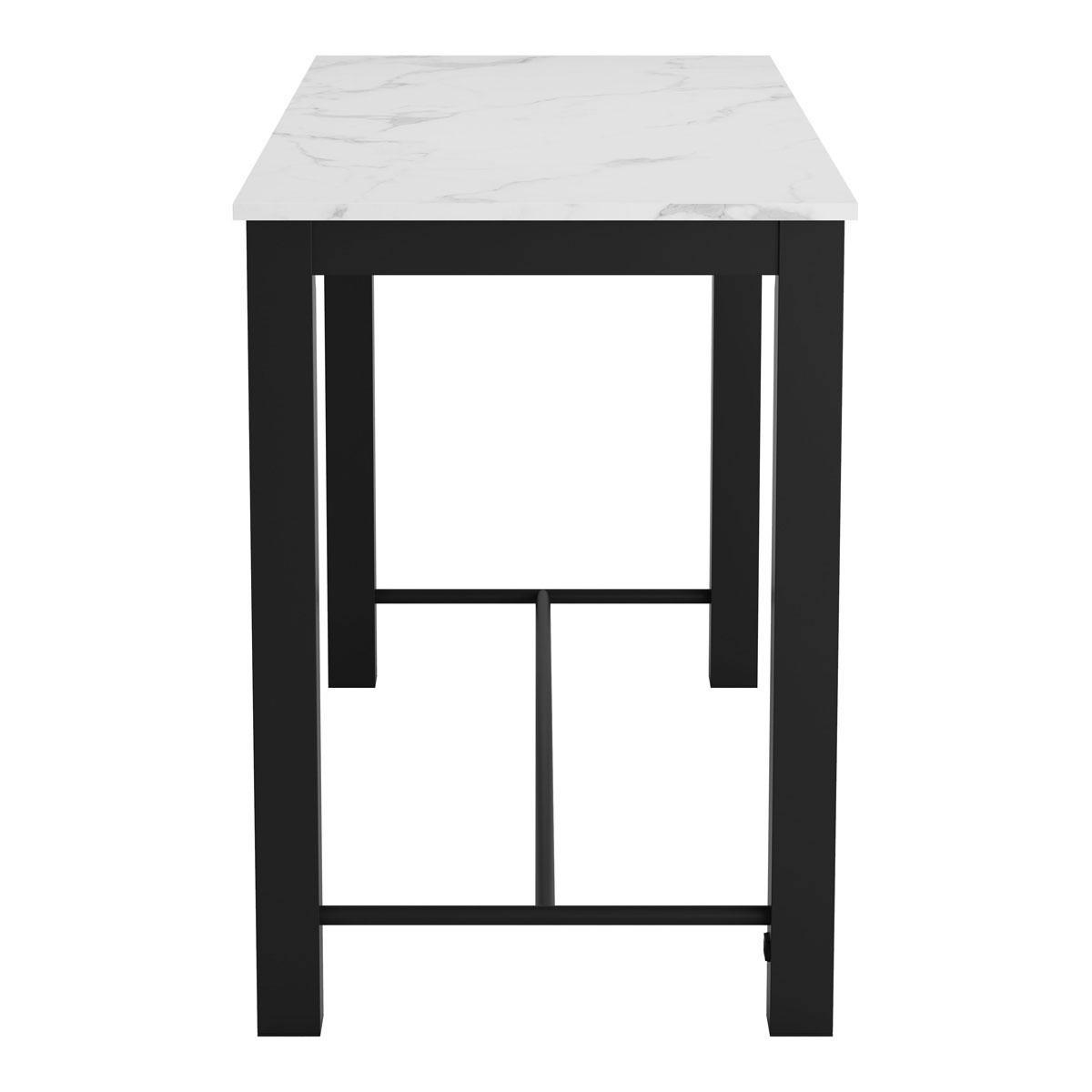 Fabulous Dawson Bar Table Faux Marble Matt Black Machost Co Dining Chair Design Ideas Machostcouk